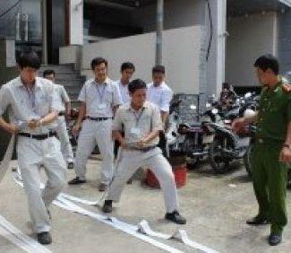 Tập huấn PCCC tại Chi nhánh Hồ Chí Minh - TLE Group - Đại lý cung cấp thang máy Mitsubishi chính hãng