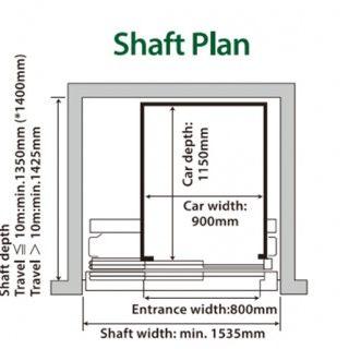 Chi tiết bản vẽ thang máy gia đình Mitsubishi 2020 | Thang Long TLE group