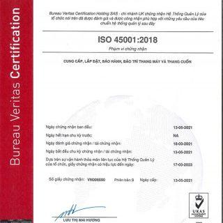 TLE CHUYỂN ĐỔI THÀNH CÔNG CHỨNG NHẬN HỆ THỐNG QUẢN LÝ OHS THEO TIÊU CHUẨN OHSAS 18001 SANG TIÊU CHUẨN ISO 45001