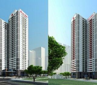 Nhà ở chung cư kết hợp dịch vụ thương mại Nam Thăng Long - TLE Group - Đại lý cung cấp thang máy Mitsubishi chính hãng