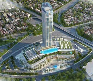 Khách sạn 9 tầng - Dự án Vinhomes Imperia Hải Phòng - TLE Group - Đại lý cung cấp thang máy Mitsubishi chính hãng